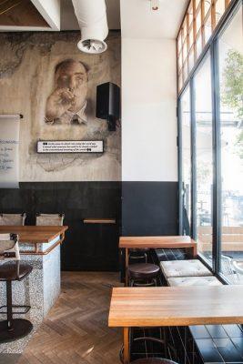 Mẫu thiết kế quán cafe đường phố